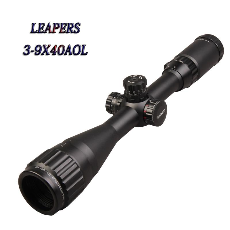 Armas de ar Hot Mil Dot Riflescope Saltadores 3 9×40 Richtkruis Optische Zicht Jacht Richtkijker Tactical Optics Escopos Airsoft Comprimido