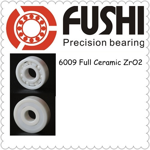 6009 Full Ceramic Bearing 1 PC 45 75 16 mm ZrO2 Material 6009CE All Zirconia Ceramic