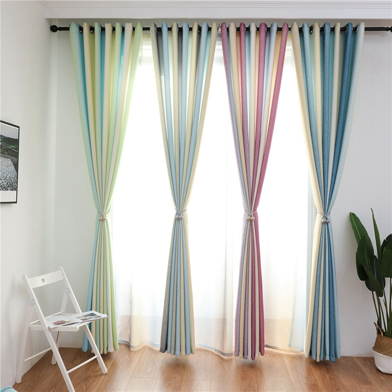 House Shading Blackout Curtains Living Room Bedroom Punching Grommet Curtain