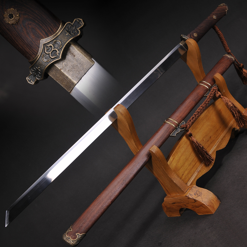 Chinese Tang Dynasty Sword Straight Blade Sword 1060 High Carbon Steel Japanese Samurai Sword Katana image