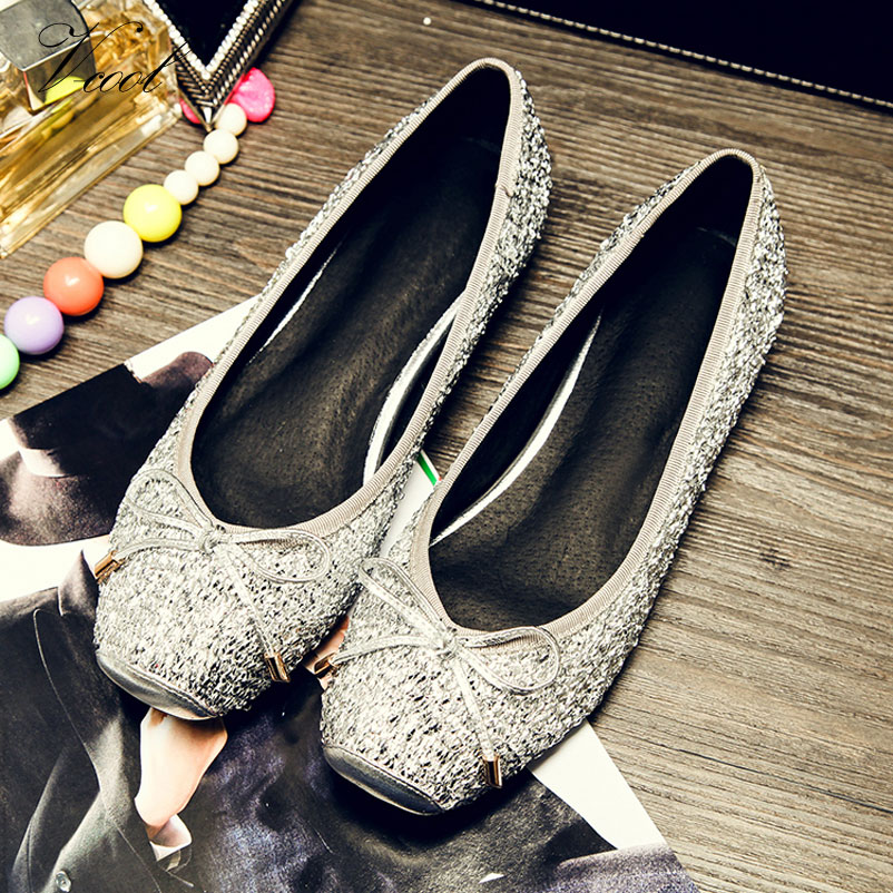 627bcede7635 2016 Ladies Shoes Glitter Flats Womens Ballerina Flat Shoes For Women  Ballerina Flats Zapatos Mujer Drop Shipping-in Women s Flats from Shoes on  ...