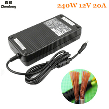 Switching Power Supply DC 12V 20A LED Power Supply Universal Regulated Transformer 240W Adapter for Led Strip Lights CCTV Radio ultrathin 240w 12v20a switching power supply adapter for led strip led lighting project transformers in steel box free ship