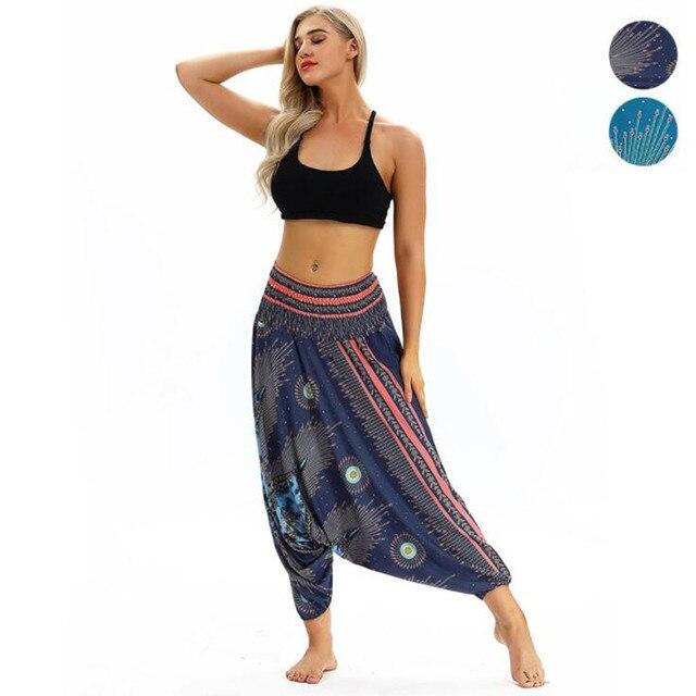 e5d5b8400e89d Female Yoga Pants Harem Pants India National Style Wide Leg Large Crotch  Loose Pants Gym Clothes