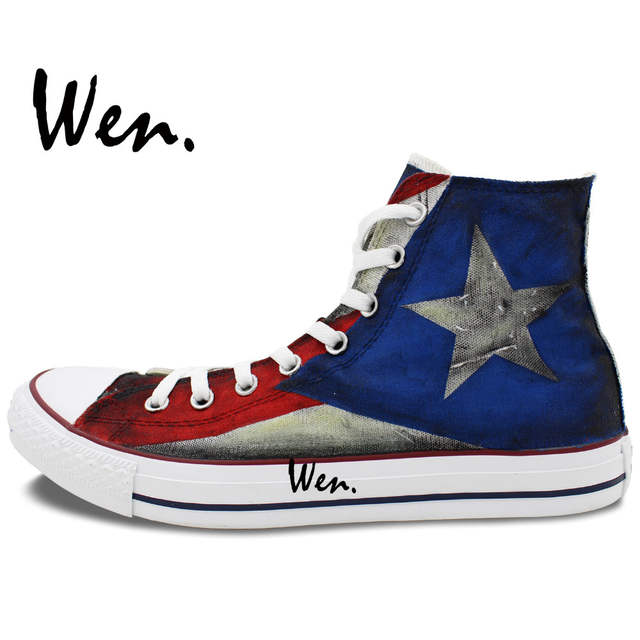 6db6f3a6ba31 placeholder Puerto Rican Flag High Top Painted Custom Canvas Shoes Men  Women s Sneakers Boys Girls Gifts Hand