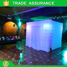 High quality white color photo booth backdrop inflatable photo booth led with curtain