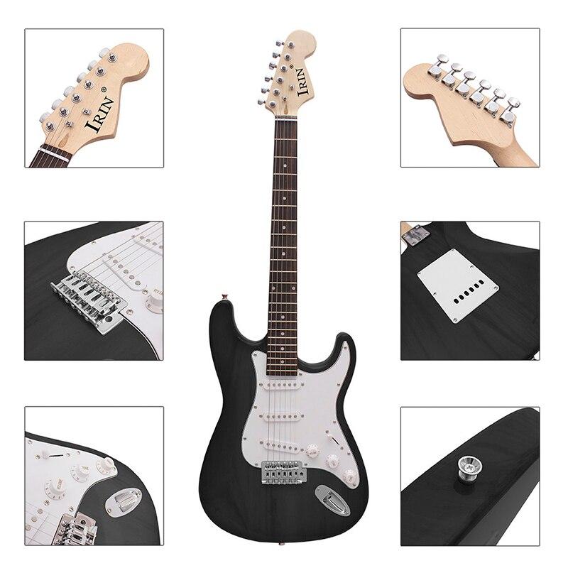 Guitare électrique série ST guitare électrique noir débutant pratique jouant de la guitare électrique