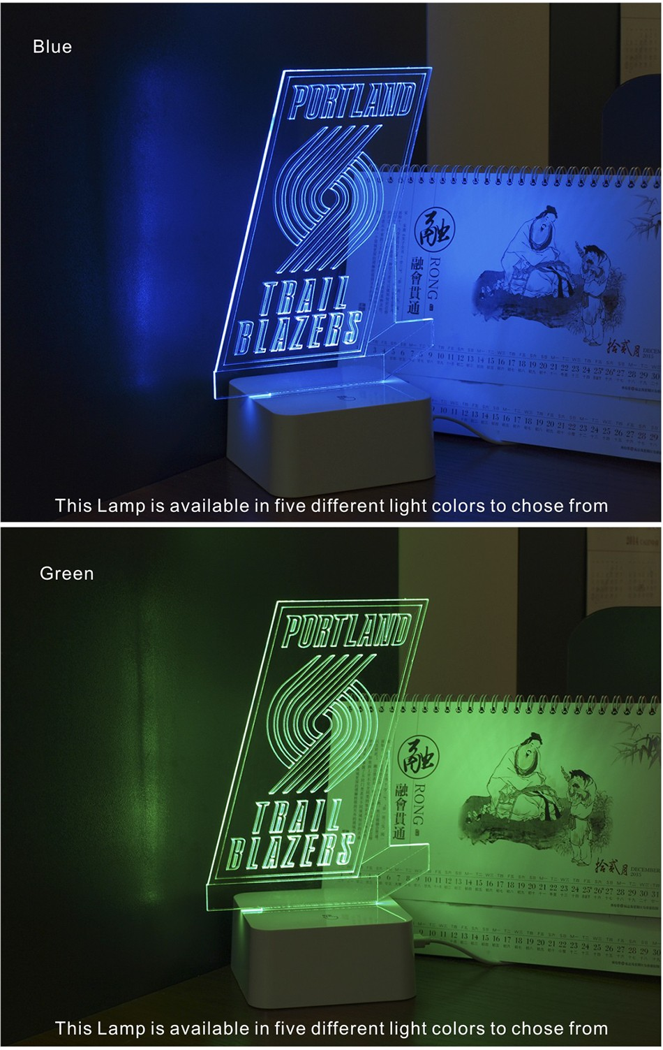 3D Lamp USB Novelty for Portland NBA Basketball Fans LED Night Light as Creative Gifts or Home Decor (4)
