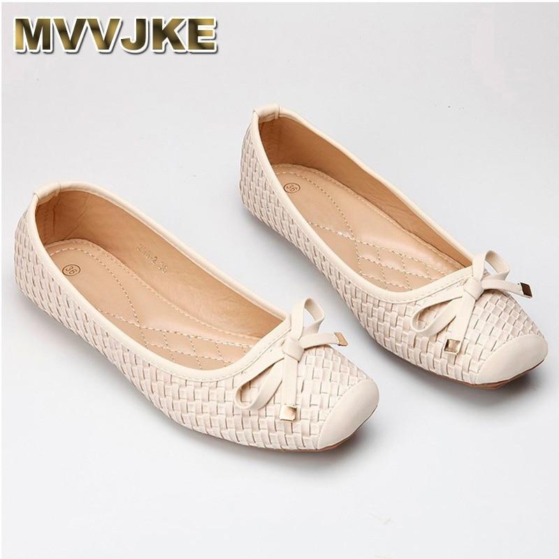 MVVJKENew Fashion Lady Soft Sole Flats Shoes For Drive Pregnant Woman Shoes Women Autumn Spring Work Shoes Square Toe 35-41E282