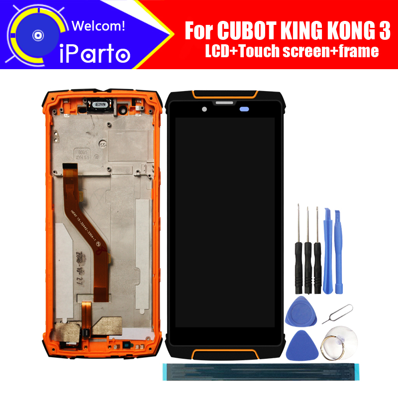 5 5 inch CUBOT KING KONG 3 LCD Display Touch Screen Digitizer Frame Assembly 100 Original