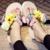Hee grand 2017 cunhas verão sandálias slip on casual flip flops plataforma trepadeiras flores sapatos mulher chinelos conforto xwt576