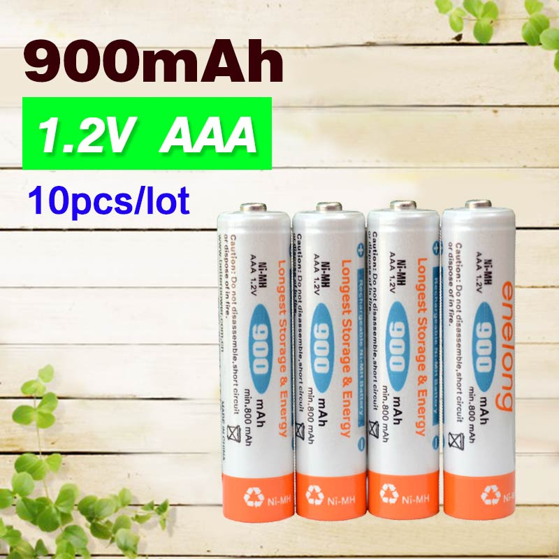 Low self-discharge 10pcs/lot enelong batteries AAA 900mAh 1.2V Ni-MH NIMH Ni MH rechargeable  battery BPI