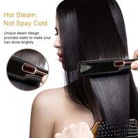 Steam Hair Straightener Negative ions Straightener Brush Vapor Straightener iron Infrared Straightening Salon Styling Tools