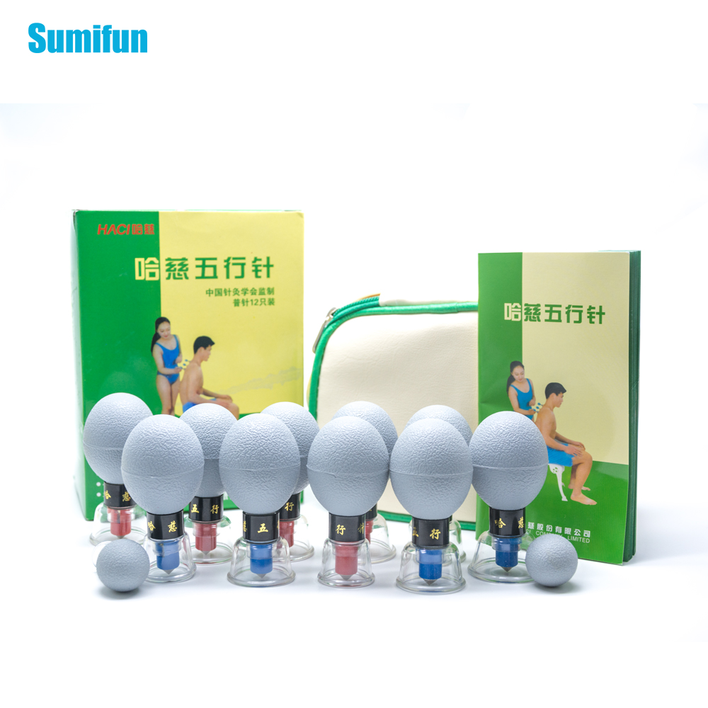 Acuum Magnetic Cupping Silica Gel Suction Cup Acupuncture Moxibustion Massage Set for Relief Muscle Soreness Toning Cellulite magnetic rechargeable muted pure silica