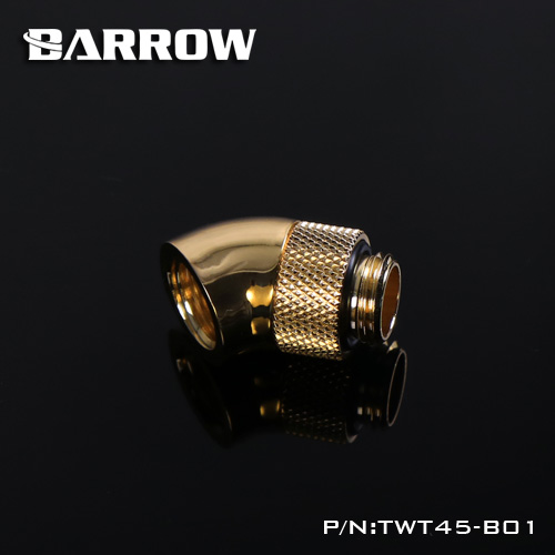 Barrow G1//4/'/' thread 45 degree Rotary Fitting Adapter Black