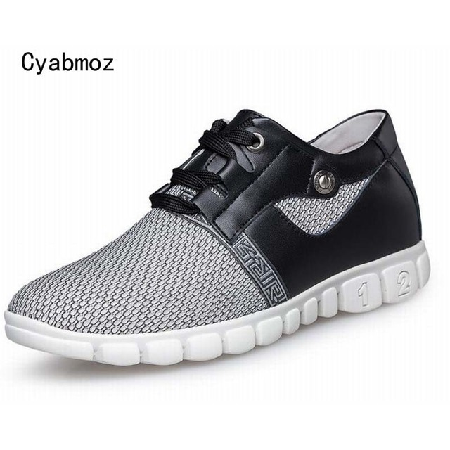 invisible height increase men shoes 6.5 cm elevator men's breathable mesh casual shoes lightweight shoes men high quality shoes