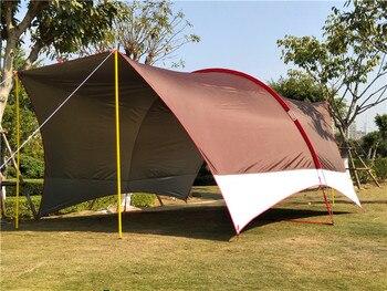 Ultralarge Multifunction Waterproof Anti-UV Camping Tent Large Gazebo Full shading UV awning Outdoor Habe big rain sunshade tent