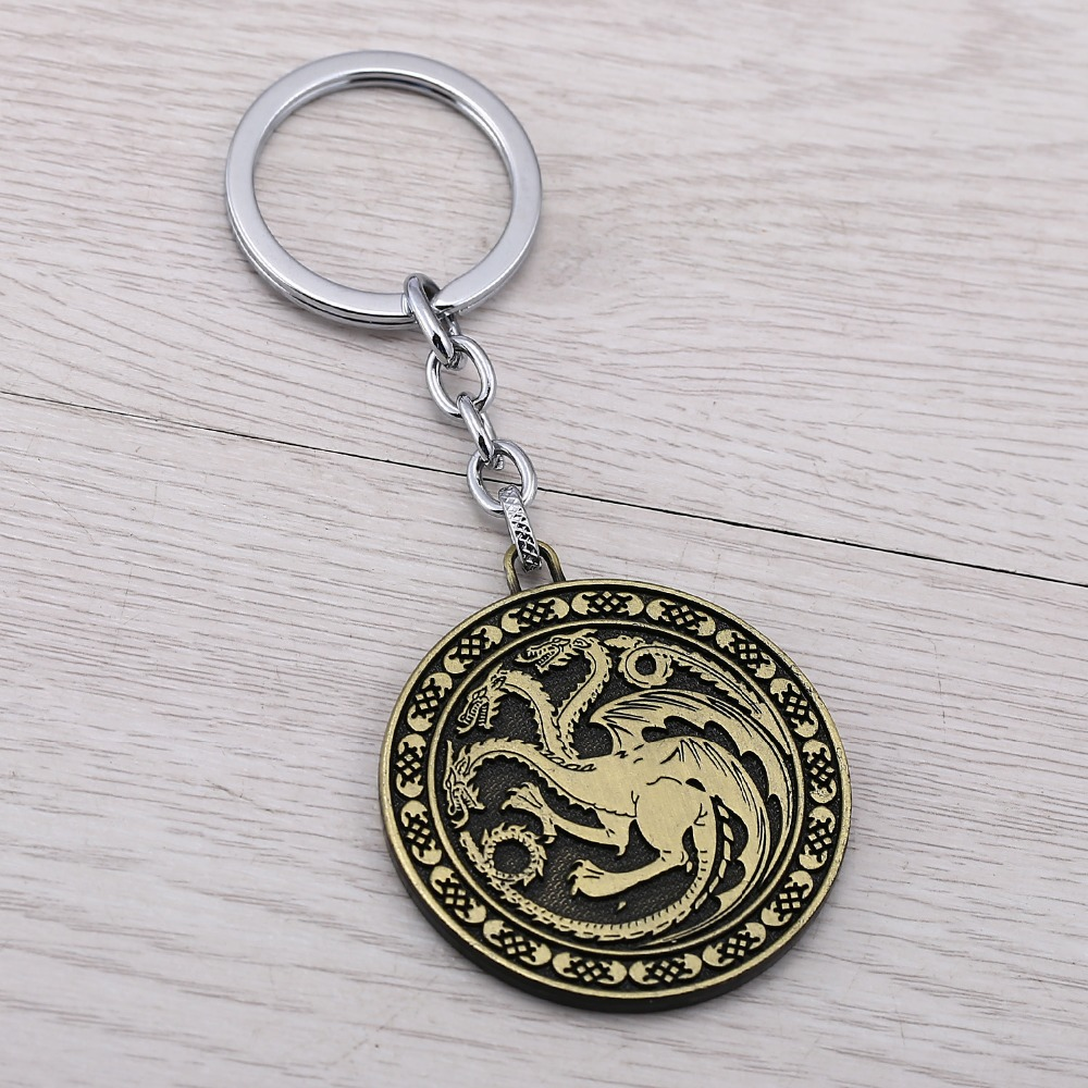 Porte Clef Original Design Us 2 47 8 Off J Store New Design Game Of Thrones House Targaryen Bronze Alloy Keychain For Fans Key Chain Dragon Porte Clef Jj11907 In Key Chains