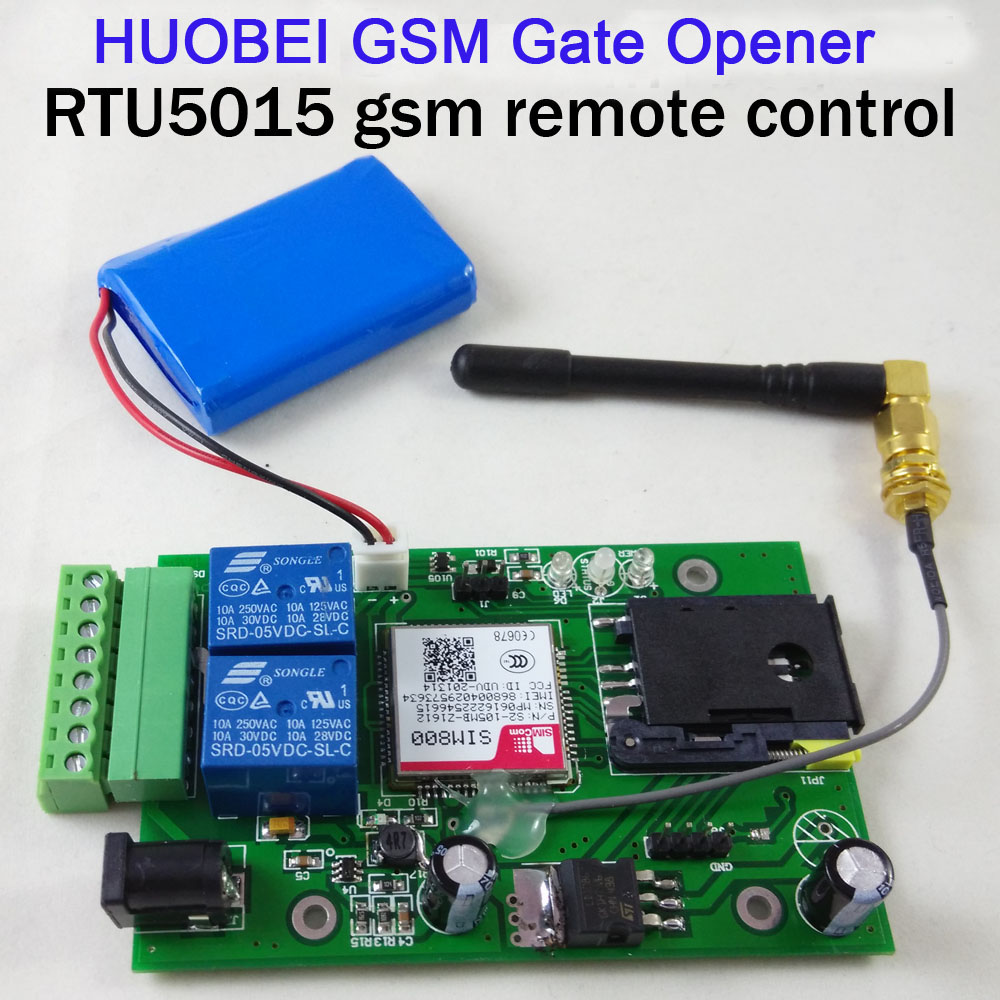 2 Input,1 Output RTU 5015 GSM Remote Relay Control Board Gsm Gate Opener Backup Battery Supported For Power Off Alarm With App