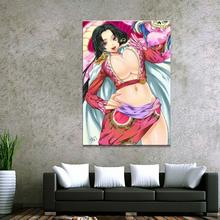 Home Decor Canvas 1 Piece Cute Sexy Anime One Hancock Posters and Prints Painting Decoration Wall Pictures Bedroom