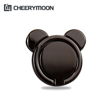 CHEERYMOON Hot Lovely Bear Universal Mobile Phone Ring Stand Metal 360 Degree Finger Grip For iPhone 8 X Samsung Magnetic Holder