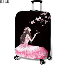 Luggage Protective Cover 18-30 inch Trolley Suitcase Protect Dust Bag Case Child Cartoon Travel Accessories Elastic Perfectly недорого