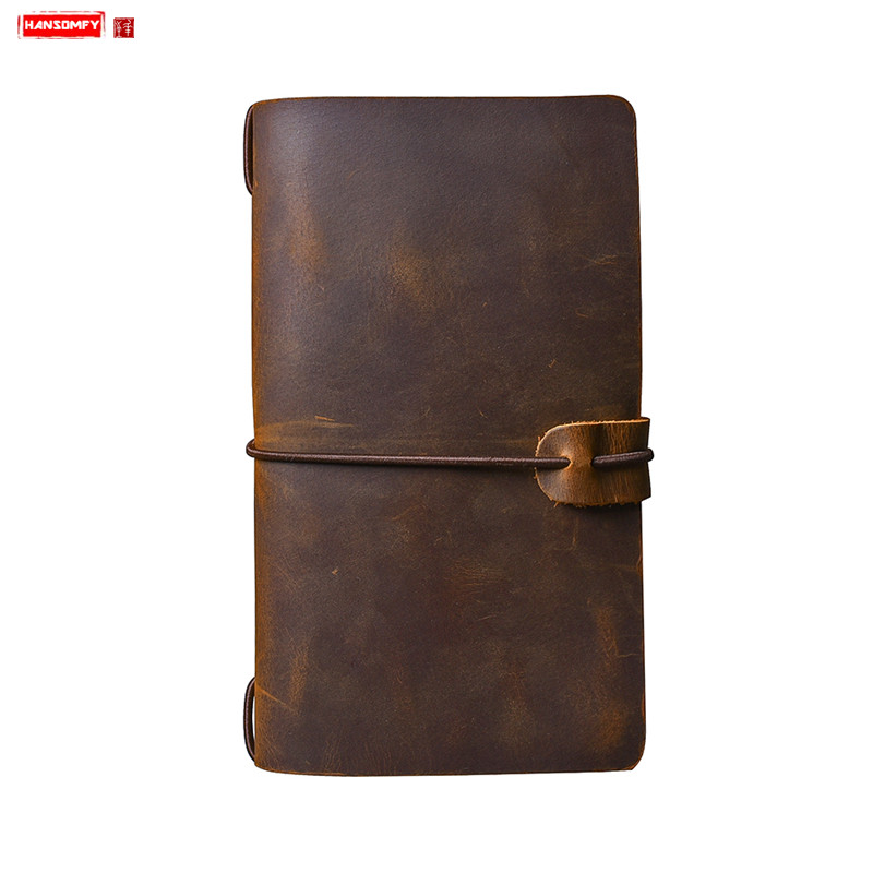 New Genuine leather long men wallet Crazy Horse Leather male Clutch bag passport cover Retro purse
