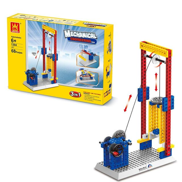 Wange Mechanical Application Of The Crown Gear Model Building Blocks For Children The Pulley Scientific Learning Education Toys