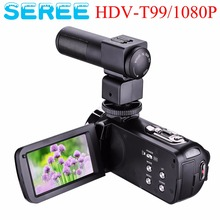 "Seree 24.0MP Filmadora Com MICROFONE Visão Noturna Câmera FullHD 1080 p Webcam 3 ""Touchscreen Digital Video Recorder Microfone Externo"