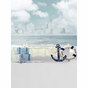 Image 4 - Allenjoy photographic background Jinhae sea boat sky waves backdrops princess kids vinyl photocall 8x12ft
