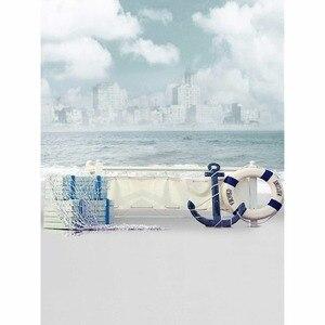 Image 4 - Tło fotograficzne Allenjoy Jinhae łódź morska niebo fale tła księżniczka dzieci winylu photocall 8x12ft