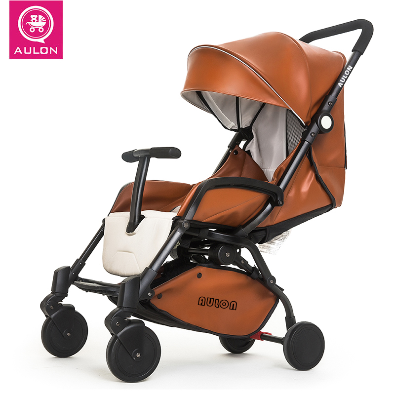 Aulon Baby Stroller Can Sit and Lie Portable Folding Four Wheel Umbrella babythrone baby stroller portable folding stroller can sit and lie down widen and widen the four wheel shock absorbers