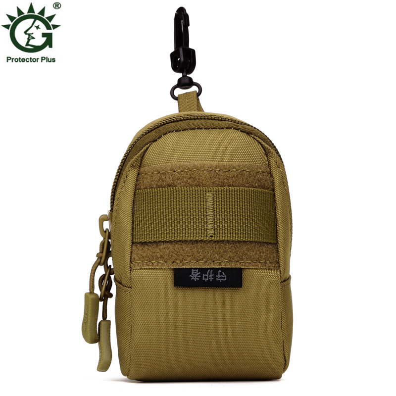 Hot Sale Military Molle Nylon Bag High Quality Men Cell Mobile Phone Camera Small Waist Bags Cigarette Case Hook Belt Fanny Pack