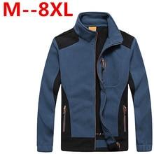8XL 6XL 7XL 5XL Ali mens clothing autumn winter fleece army jacket softshell clothing for men softshell military style jackets