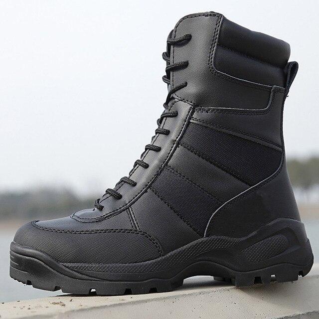Laite Hebe Zapatos Botas Militares Delta Tactical 2017 Nuevos Zapatos Impermeables Botas SWAT Botas de Combate Del Ejército Al Aire Libre Negro Hombres LH194-1