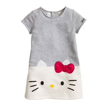 O-neck dress autumn baby girls clothes cotton Hello kitty grils for new year dress for girls Christmas casual kids clothes