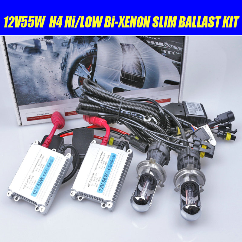 2018 New Arrival Top Fashion Car H4-3 Bi-Xenon lamp 55w 12v H4 Hi/low light H1 H3 <font><b>H7</b></font> H11 9005/HB3 9006/HB4 Kit 6000k 8000k 4300k image