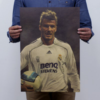 Beckham A / Football Star / Cafe / Bar / Decorative Painting 51x35.5cm