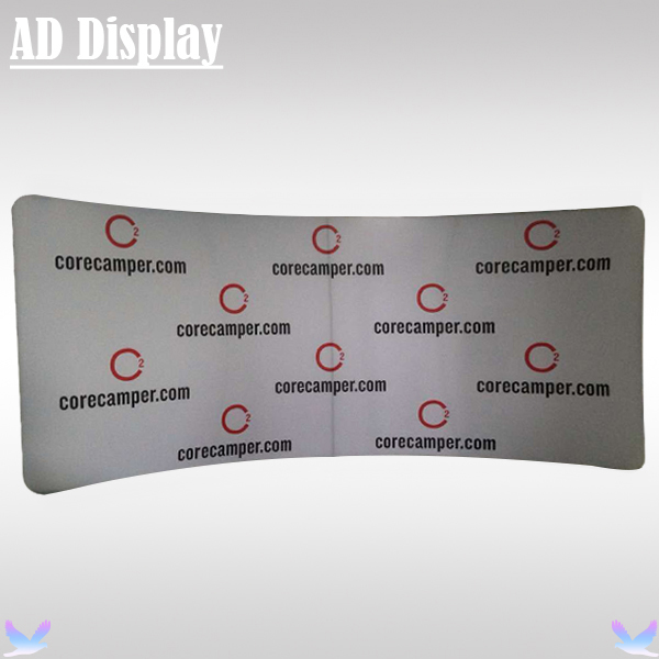 Exhibition Booth Size : Ft ft custom size curved tension fabric exhibition banner stand