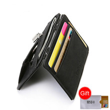 BISI GORO fashion slim minimalist credit card holder anti rfid protection ID bank case porta tarjetas zipper coin wallet