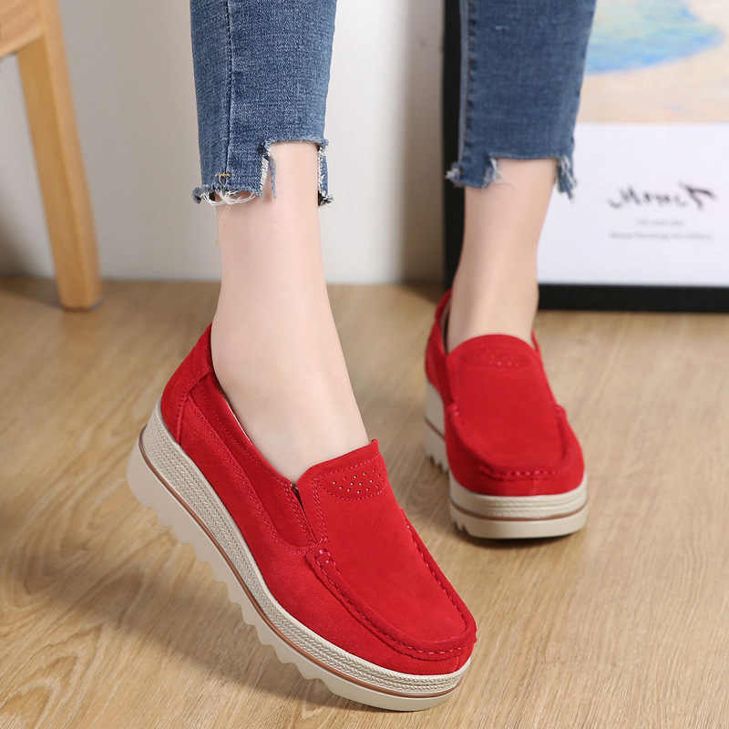 Women casual shoes loafers 2019 new round toe solid female sneakers breathable women shoes flats plus size zapatos de mujer