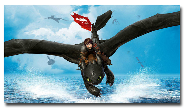 How To Train Your Dragon 2 Art Silk Poster Print 13x24 24x43 Inches Cartoon Movie Pictures