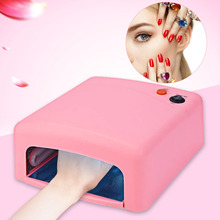 Professional 36W UV Lamp Gel Nail Dryer 220V EU Plug Nail Lamp Curing Light Nail Dryer Tools and Anti UV Glove to Choose