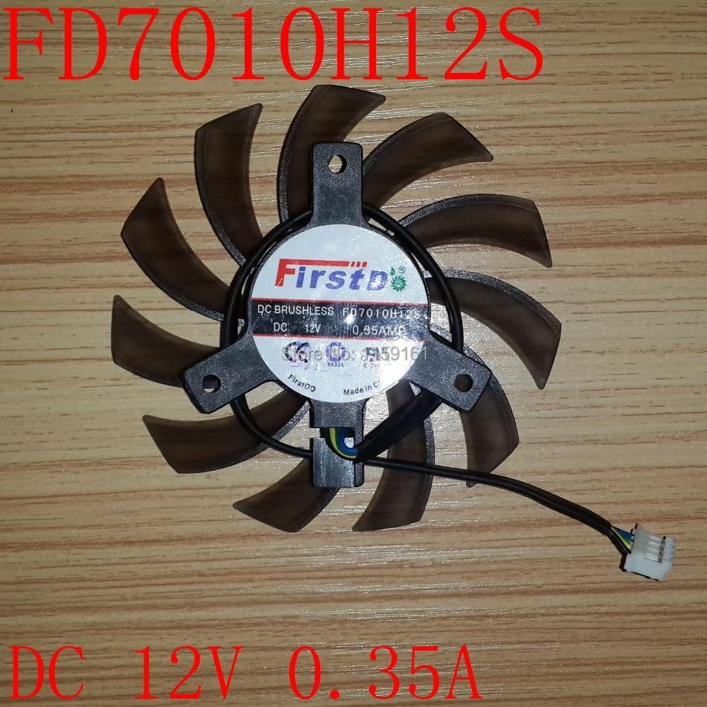 무료 배송 FD7010H12S 40x40x40mm DC12V 0.35A 75mm 4pin 냉각 - 컴퓨터 구성 요소