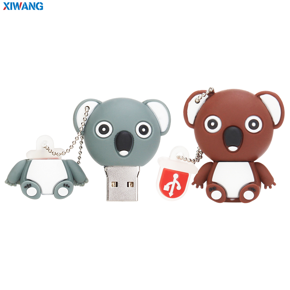 Image 2 - Pen drive 32GB 64GB Cartoon Koala usb flash drive 128GB 16GB 8GB 4GB USB 2.0 mini Elephant panda Pet pig Pendrive USB Stick Disk-in USB Flash Drives from Computer & Office