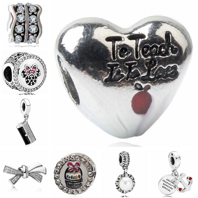 Jewelry & Accessories Btuamb Punk Style Carved Flower Handbag Firework Mickey & Minnie Cartoon Charm Beads Fit Pandora Original Bracelets Diy Jewelry