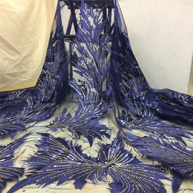 VILLIEA African French Lace Fabric 2018 High Quality Net Lace Embroidery Fabric Nigerian Wedding Tulle Lace