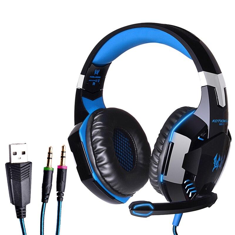 Fw1s nuevas azul each g2000 juego auriculares auriculares para juegos de auricul
