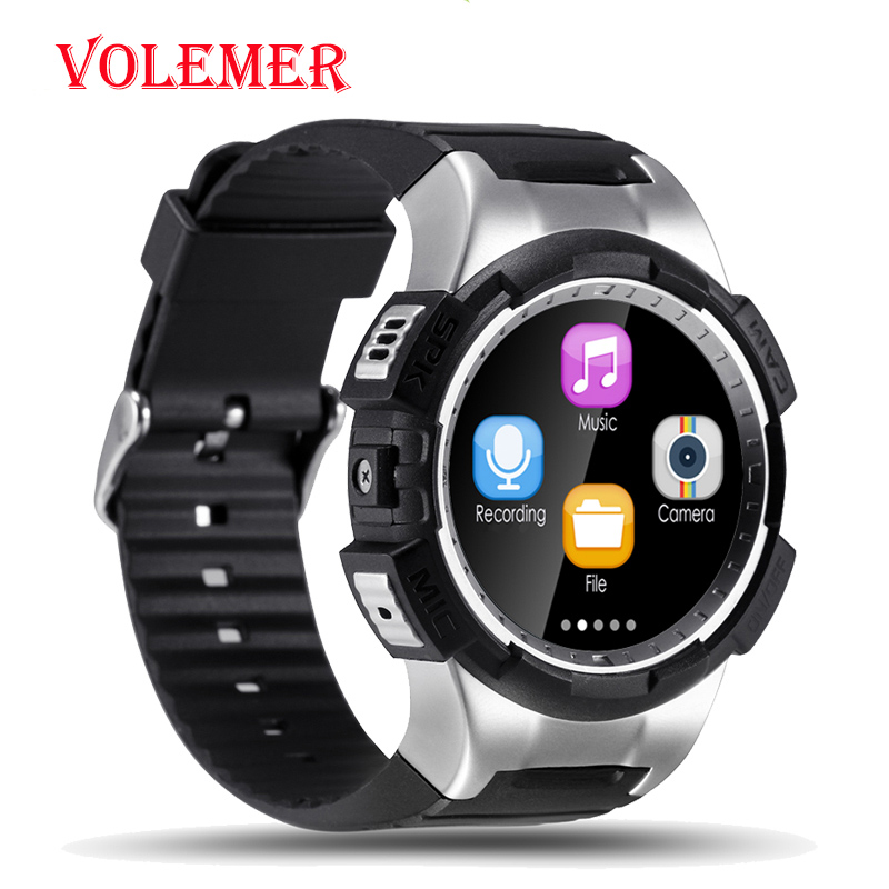 Volemer GPS Bluetooth Smartwatch V11S Supports 32GB TF card SMS Reminder siri Multi-mode Sports Monitoring Wristwatch PK S928 2008 donruss sports legends 114 hope solo women s soccer cards rookie card