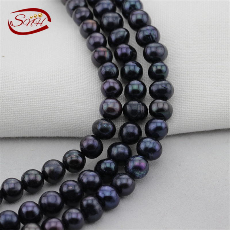 SNH5 strands/package 8mm AA potato dyed peacock color real pearl strand