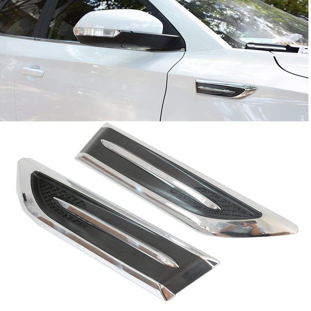 Aliexpress com : Buy 1 Pair universal Racing Style Chrome Side Vent Car Air  Flow Mesh Decoration Sticker Intake Scoop Turbo Bonnet Vent Cover from